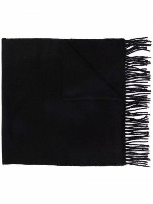 Кашемировый шарф с логотипом Acne Studios. Цвет: черный
