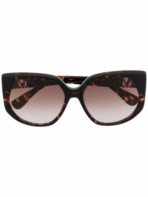 Солнцезащитные очки в оправе кошачий глаз Max Mara. Цвет: коричневый