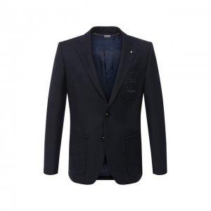 Шерстяной пиджак Billionaire. Цвет: синий