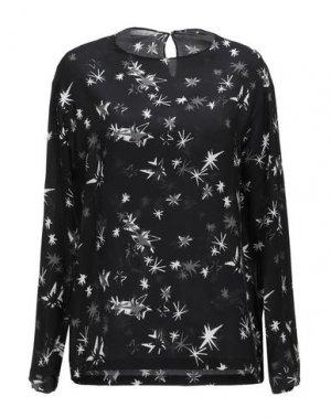 Блузка AQUILANO-RIMONDI. Цвет: черный