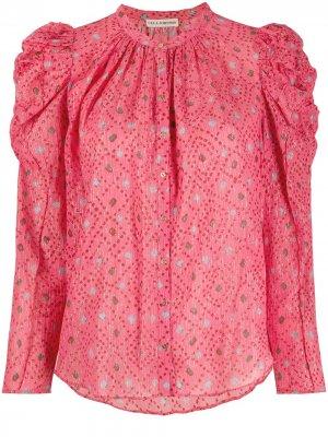 Блузка Willa с пышными рукавами Ulla Johnson. Цвет: розовый