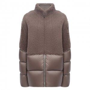 Пуховая куртка Moncler + Rick Owens. Цвет: серый