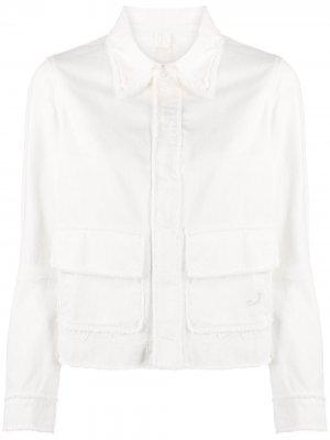 Джинсовая куртка с бахромой Jacob Cohen. Цвет: нейтральные цвета