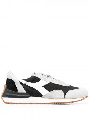 Кроссовки Equipe в стиле колор-блок Diadora. Цвет: черный