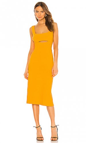 Платье миди nadia Finders Keepers. Цвет: оранжевый