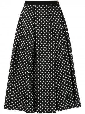 Мини-юбка в горох Comme Des Garçons Tricot. Цвет: черный
