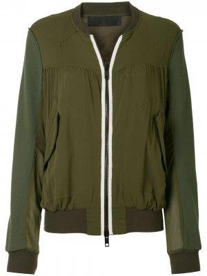 Короткая куртка-бомбер Haider Ackermann. Цвет: зеленый