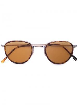 Солнцезащитные очки в черепаховой оправе Garrett Leight. Цвет: коричневый
