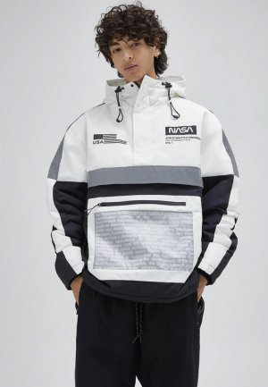 Куртка утепленная Pull&Bear. Цвет: разноцветный