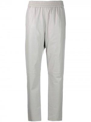 High-rise straight leg trousers Drome. Цвет: серый