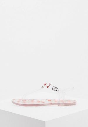 Сандалии Love Moschino. Цвет: прозрачный