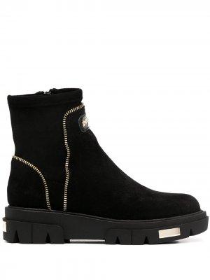 Ботинки с декоративными молниями DKNY. Цвет: черный