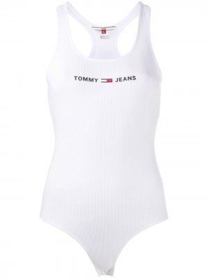 Спортивное боди Tommy Jeans. Цвет: белый