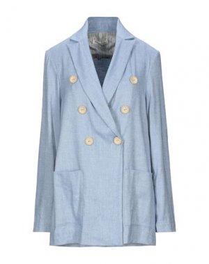Пиджак LA FABRIQUE. Цвет: пастельно-синий