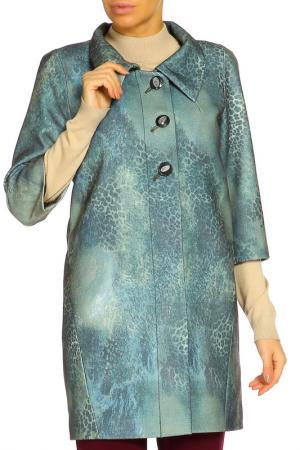 Пальто Фантазия+. Цвет: зеленый, леопардовый