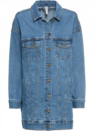 Куртка джинсовая оверсайз bonprix. Цвет: синий