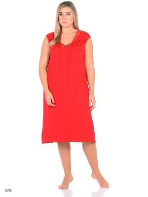 Ночная сорочка больших размеров Flip. Цвет: красный