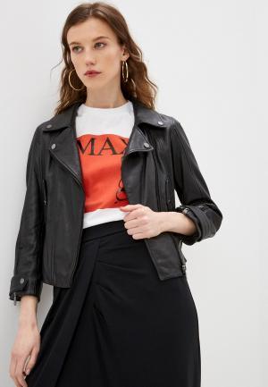 Куртка кожаная Max&Co FINE. Цвет: черный