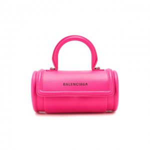 Сумка Round S Balenciaga. Цвет: розовый