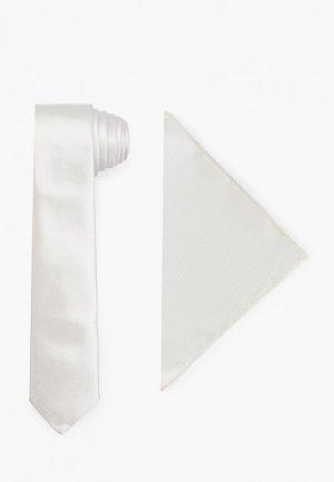 Галстук и платок Ir.Lush. Цвет: серый