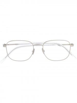 Очки в квадратной оправе Dior Eyewear. Цвет: белый