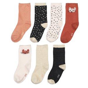 Комплект из 7 пар носков LaRedoute. Цвет: розовый