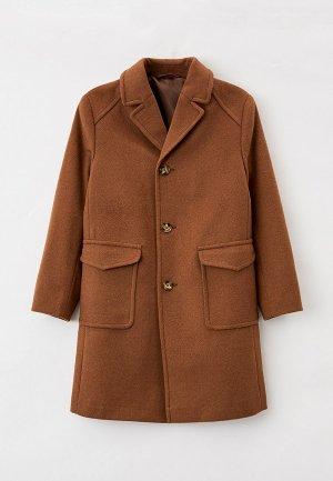 Пальто Smiths brand Smith's от 0 до +12 градусов. Цвет: коричневый