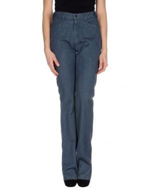 Джинсовые брюки CATHERINE MALANDRINO. Цвет: грифельно-синий