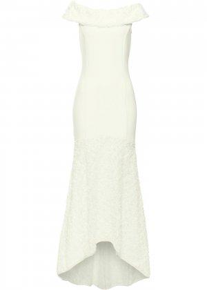 Свадебное платье bonprix. Цвет: бежевый