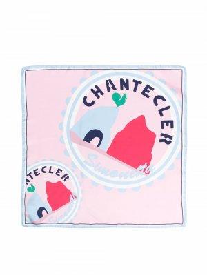 Платок с принтом из коллаборации Chantecler Simonetta. Цвет: розовый