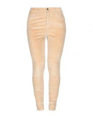 Повседневные брюки CURRENT/ELLIOTT. Цвет: песочный