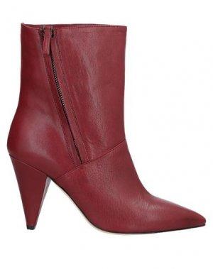Полусапоги и высокие ботинки J|D JULIE DEE. Цвет: красно-коричневый