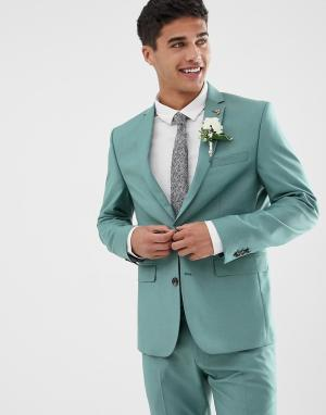 Зеленый приталенный пиджак Farah Henderson Smart
