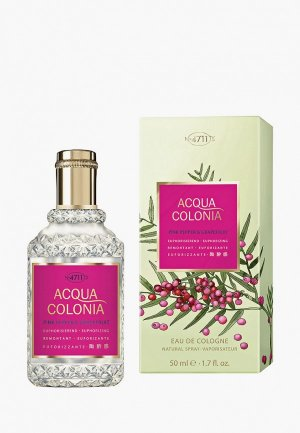 Одеколон 4711 Acqua Colonia Euphorizing - Pink Pepper & Grapefruit, 50мл. Цвет: прозрачный