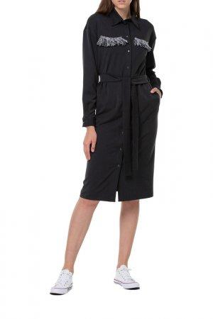 Платье Adzhedo. Цвет: черный, серая полоса