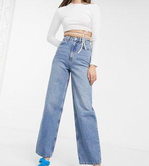Выбеленные широкие джинсы в винтажном стиле ASOS DESIGN Tall recycled-Синий
