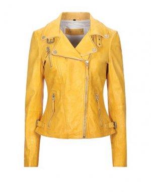 Куртка FREAKY NATION. Цвет: желтый