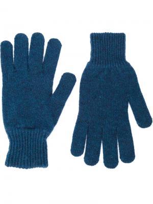Трикотажные перчатки Norse Projects. Цвет: синий