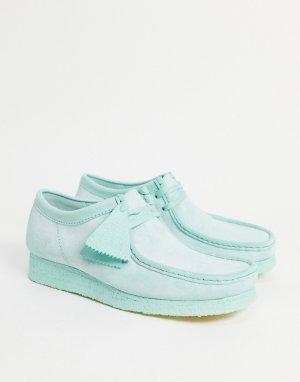 Замшевые туфли мятного цвета Walabee-Зеленый цвет Clarks Originals