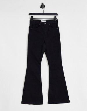 Черные расклешенные джинсы -Черный цвет Topshop