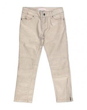 Джинсовые брюки LILI GAUFRETTE. Цвет: бежевый