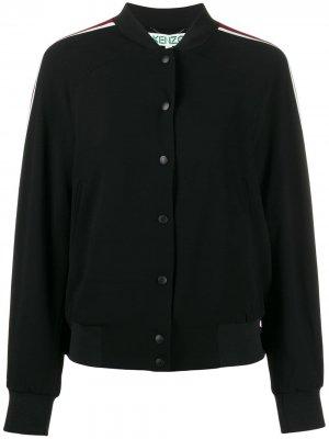 Куртка-бомбер со вставками Kenzo. Цвет: черный