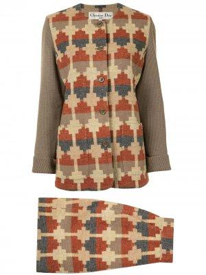 Костюм с юбкой Christian Dior. Цвет: разноцветный
