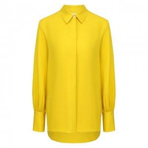 Шелковая блузка The Row. Цвет: жёлтый
