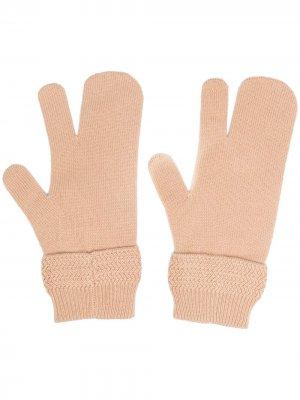 Перчатки Tabi Maison Margiela. Цвет: нейтральные цвета