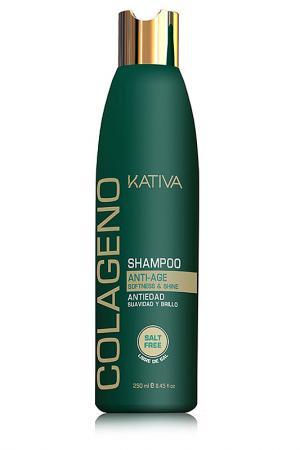 Коллагеновый шампунь Kativa. Цвет: зеленый