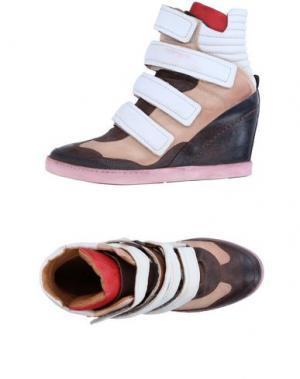 Высокие кеды и кроссовки AIR STEP. Цвет: коричневый