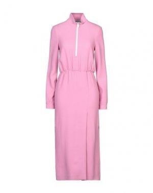 Платье длиной 3/4 ALEXANDR ROGOV. Цвет: розовый