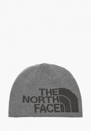 Шапка The North Face Y ANDERS BEANIE. Цвет: серый