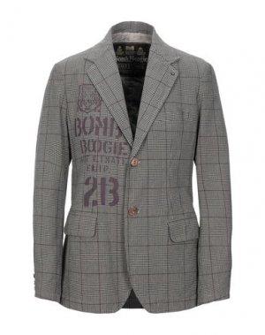 Пиджак BOMBOOGIE. Цвет: серый